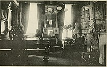 Annie Adams Fields in her Charles Street home's library with companion Sarah Orne Jewett.jpg