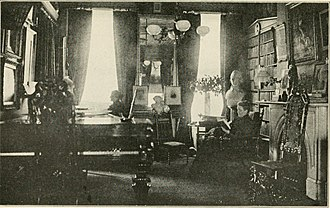 Annie Adams Fields - Fields in her Charles Street home's library with companion Sarah Orne Jewett, published 1922