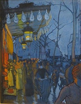 Louis Anquetin - L'Avenue de Clichy, cinq heures du soir, 1887