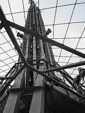 Torre Latinoamericana - The Torre Latinoamericana's antenna