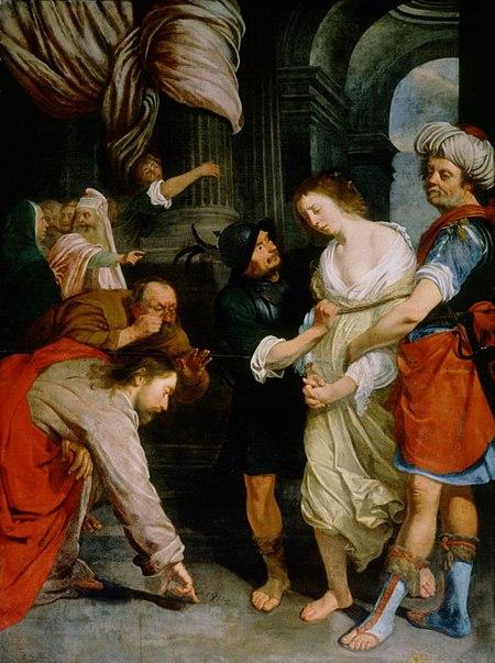 File:Antoon van den Heuvel - Christ and the Adulterous Woman.jpg