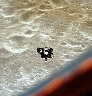 Apollo 10 - Apollo 10's Lunar Module, Snoopy, approaches the Command/Service Module Charlie Brown for redocking