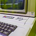Apple II signed by Steve Wozniak in Computerspielemuseum, Berlin (30757792165).jpg