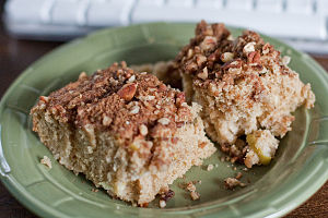 Coffee cakes are typically flavored with cinna...