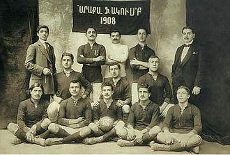 Football in Armenia - Araks Football Club, Constantinople, 1910s.