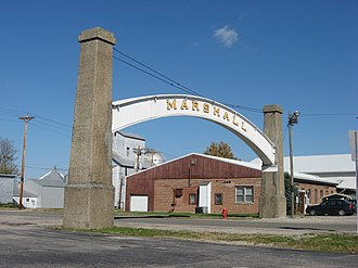 Marshall, Indiana - The Arch in the Town of Marshall