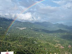 Rainbow at the view of Cachipay