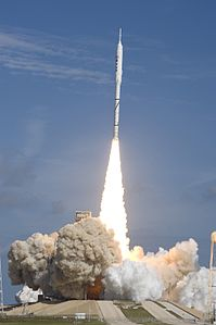 Ares I-X test rocket roars off