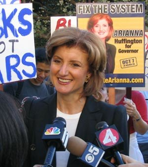 Arianna Huffington - Campaigning for Governor of California, 2003