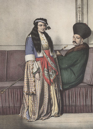Armenians in the Middle East - An Armenian couple in Istanbul at the early 19th Century, by Louis Dupré.