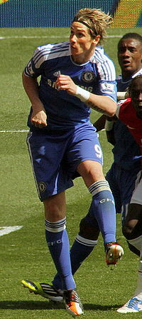 Arsenal vs Chelsea goalmouth Torres.jpg