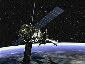 Gravity Probe B - Image: Artist concept of Gravity Probe B