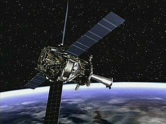 Gravity Probe B - Image: Artist concept of Gravity Probe B