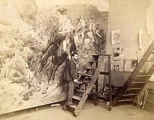 Arturo Michelena - Arturo Michelena in his Paris workshop