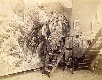 Arturo Michelena - Arturo Michelena in his Paris workshop