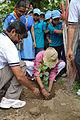 Arup Roy Plants Bauhinia variegata - Summer Camp - Nisana Foundation - Sibpur BE College Model High School - Howrah 2013-06-09 9761.JPG