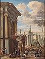 Ascanio Luciani - Architectural capriccio with market scene.JPG