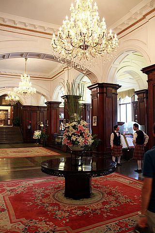lobby of the Astor House Hotel in Shanghai