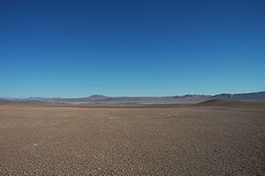 Atacama Desert - A flat area of the Atacama Desert between Antofagasta and Taltal