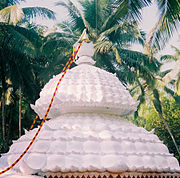 The sahasrara ('1008 petal' arrangement) used as roof-architecture in a Thangal near Thiruvattar, Tamil Nadu.