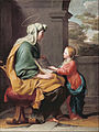 Attributed to Giovanni Romanelli - Education of the virgin - Google Art Project.jpg