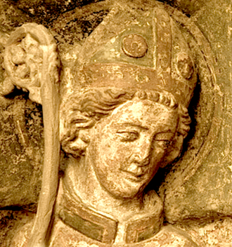 Aureus of Mainz - Aureus on a 1320 tombstone in the choir of the Aegidienkirche in Heilbad Heiligenstadt.