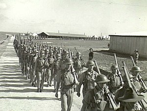 2/4th Battalion (Australia) - Parade at Gaza, April 1940