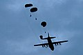 Australian army paratroopers from Reconnaissance Platoon, 3rd Battalion, Royal Australian Regiment descend upon Kapyong Airfield during exercise Talisman Sabre 2007.jpg