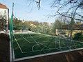 Austrian-Hungarian European School. Orbánhegyi Road side. Sports court. - Orbánhegy, Budapest.JPG