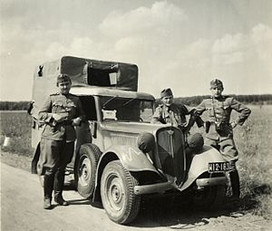 Polski Fiat 508/518 - Polski Fiat 508/518 of Hungarian army, one of vehicles obtained from interned Polish troops in September 1939