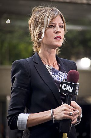 Avery Haines - Avery Haines covering the state funeral of Jack Layton in 2011