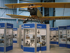 Canada's Aviation Hall of Fame - View from inside the Aviation Hangar Exhibit at the Reynolds-Alberta Museum