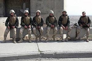 Azerbaijani peacekeeping forces - Azerbaijani peacekeepers, securing the Haditha Dam