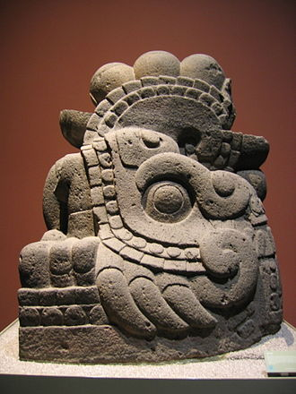 Xiuhcoatl - Aztec serpent sculpture