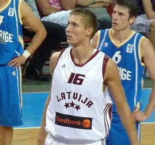 Kaspars Bērziņš Latvian basketball player