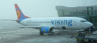 Viking Airlines - A Viking Airlines Boeing 737-300 in new livery, at Göteborg Landvetter Airport, Sweden. (2009)