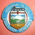 BADGE - Canada - AB - Alberta Highway Patrol (overlaid coat of arms)(defunct 1987) (7917004048).jpg