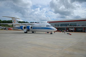 Aviastar (Indonesia) - Image: B Ae 146 200 Aviastar at Muara Bungo