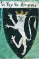 Coat of arms of the King of Bulgaria ca 1295 from the Lord Marshal's Roll.