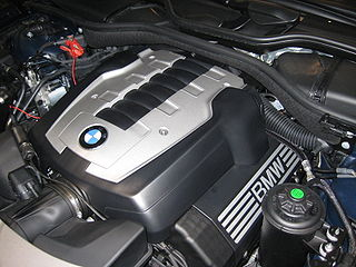 BMW N62 V8 DOHC piston engine which replaced the M62 and was produced from 2002–present