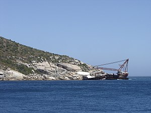 BOS 400 - BOS 400 wreck off Duiker Point, South Africa