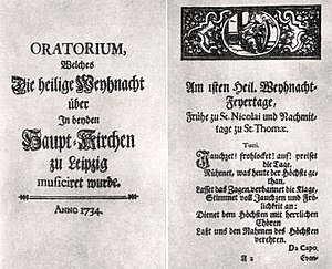 Christmas Oratorio: printed edition of the libretto (Source: Wikimedia)