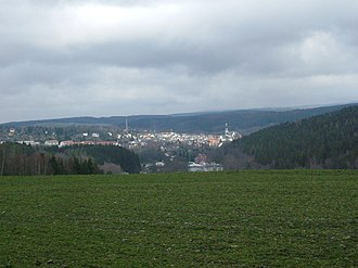Adorf - Adorf from the south, from the Brunnenberg