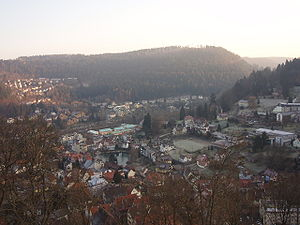 Bad Liebenzell - View over the town from Liebenzell Castle
