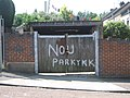 Bad Spelling on Garage Door in Chatham - geograph.org.uk - 1382979.jpg