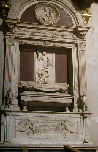 Hugh, Margrave of Tuscany - Mino da Fiesole's monument to Hugh in the Badia Fiorentina (completed 1481–82)