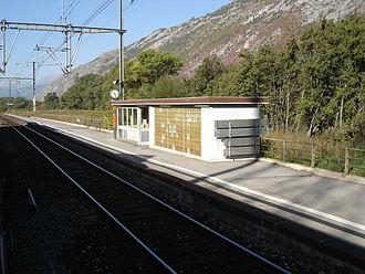 Turtmann - Turtmann village train station