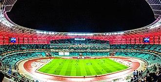 UEFA Euro 2020 - Image: Baku Olympic Stadium panorama 1