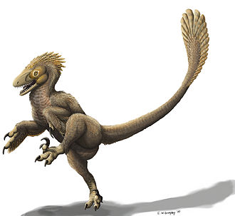 Balaur bondoc - Reconstruction of Balaur as a dromaeosaur, using the originally-proposed kicking motion