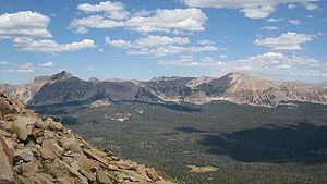 Uinta Mountains - Hayden Peak and Mount Agassiz seen from Bald Mountain